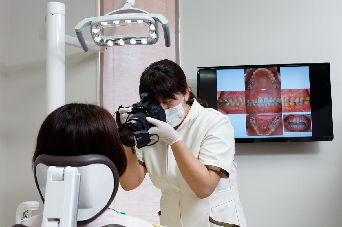 歯科専用のカメラでの撮影